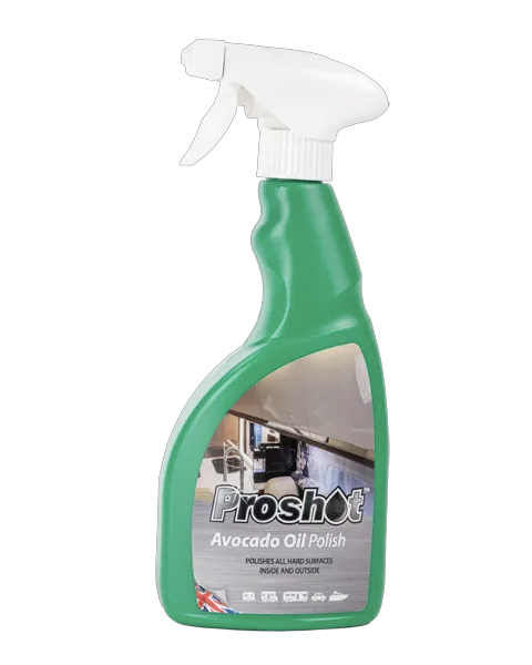 proshot oil polish here we tow - The Best Caravan and Motorhome Toilet and Cleaning Products
