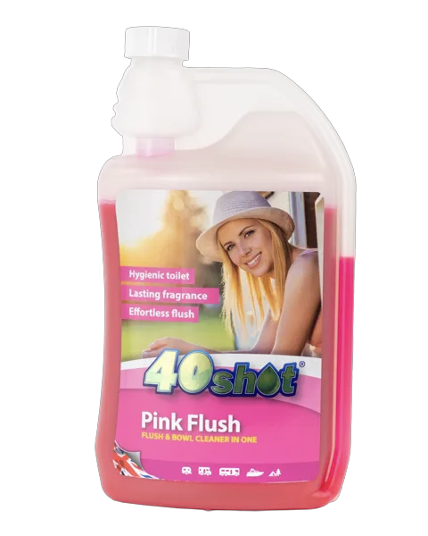 Pink Flush here we tow - The Best Caravan and Motorhome Toilet and Cleaning Products